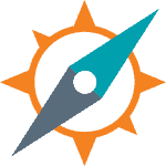 Counterpart Navigator app icon - a stylised compass in orange, teal and grey.
